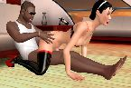 Interracial sex between two live sex online gamers