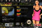 Flasg games with hot pink night dress on hot chick