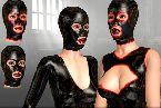 Rubber mask sex and latex outfits in bdsm painful games