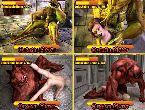 Monsters fucking hentai babes in manga porn games